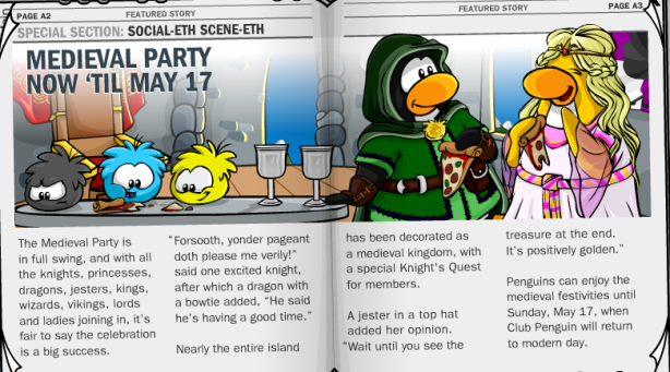 Page A2 in Penguin Times #187