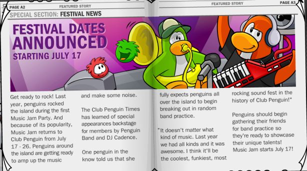 Page A2 in Penguin Times #194