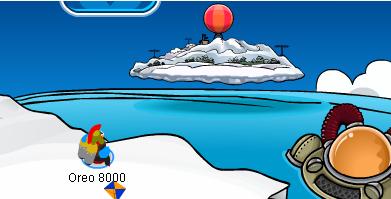 Club Penguin floating
