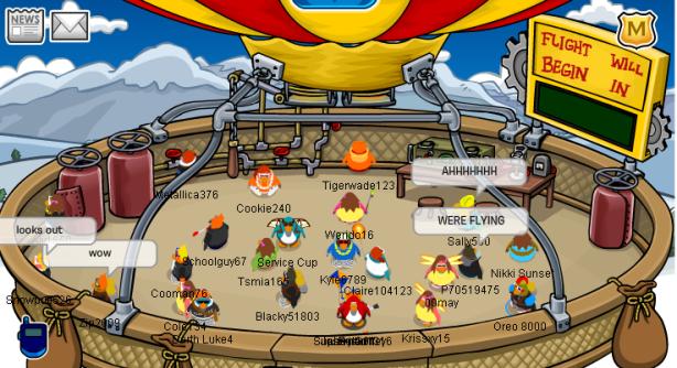 Club Penguin Hot Air Balloon