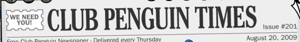 Club Penguin Times #201 Header