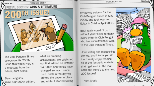 Page A4 in Penguin Times #200